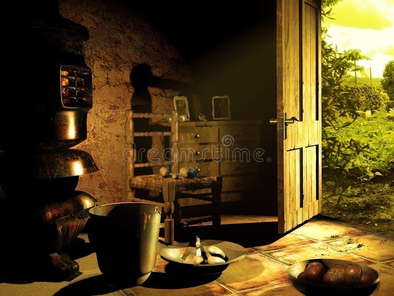 Rustiek huis vector illustratie