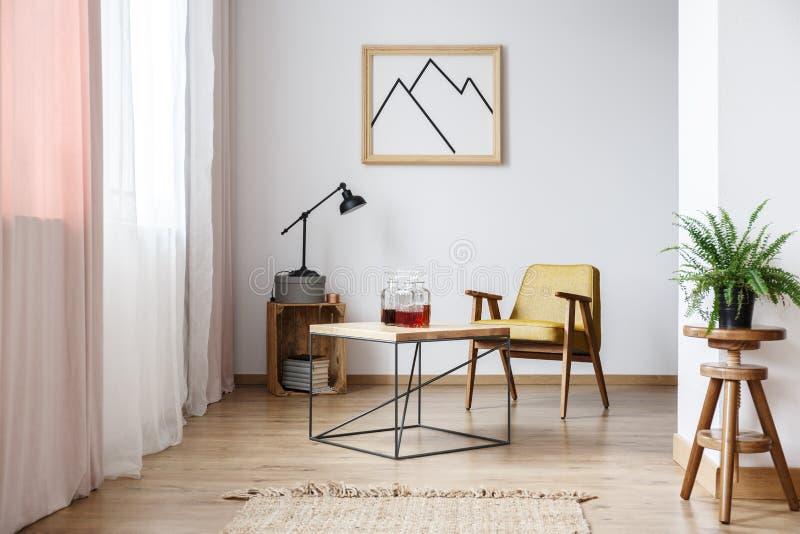 Rustiek ontwerp van wit binnenland stock fotografie