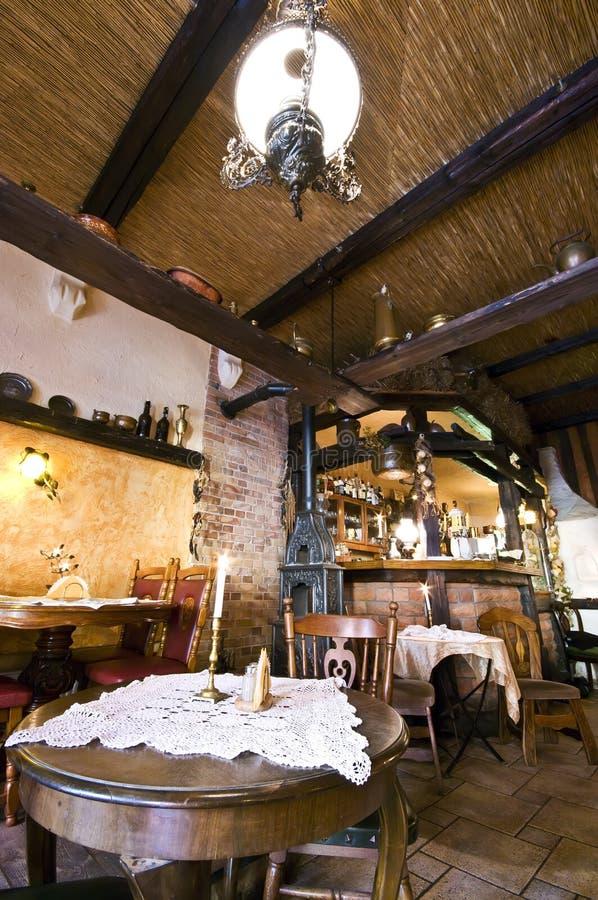 Rustiek restaurant royalty-vrije stock foto