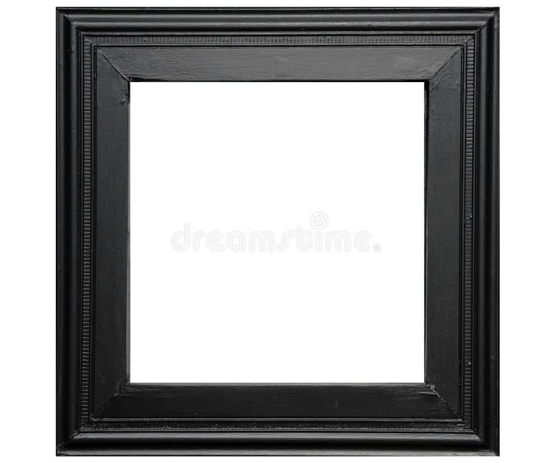 Rustiek zwart fotoframe royalty-vrije stock afbeelding