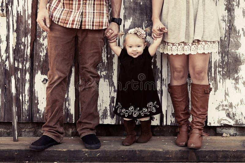 Rustieke familie royalty-vrije stock afbeelding