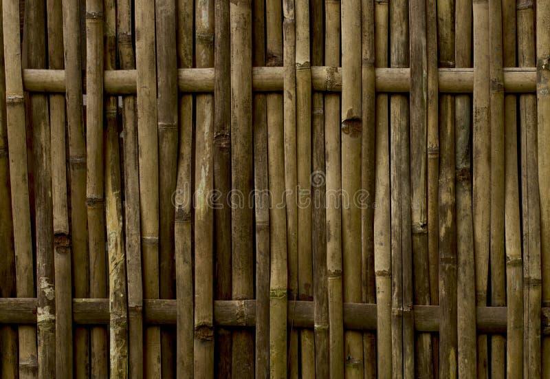 Rustieke gele bamboeomheining royalty-vrije stock foto