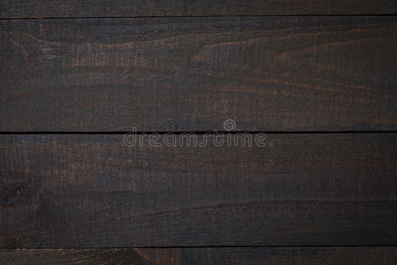Rustieke houten flatlay lijst - lege eiken oppervlakte Hoogste mening met beschikbare ruimte voor exemplaartekst stock foto's