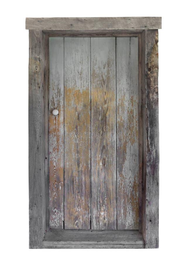 Rustieke houten geïsoleerde deur royalty-vrije stock fotografie