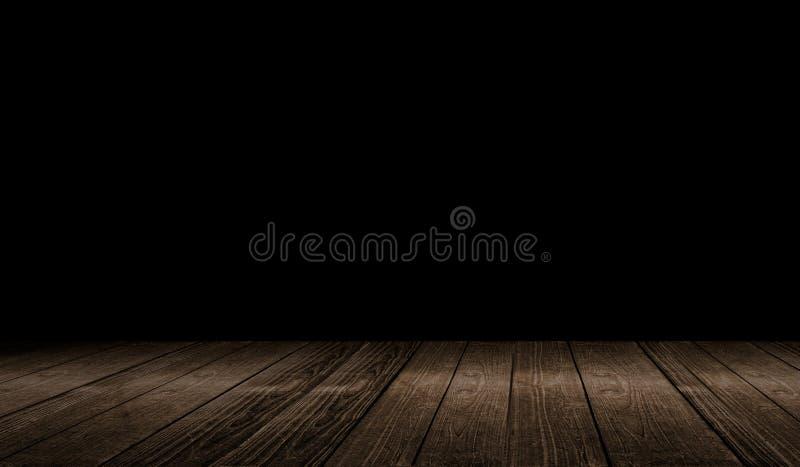 Rustieke houten planken 3d illustratie als achtergrond stock illustratie