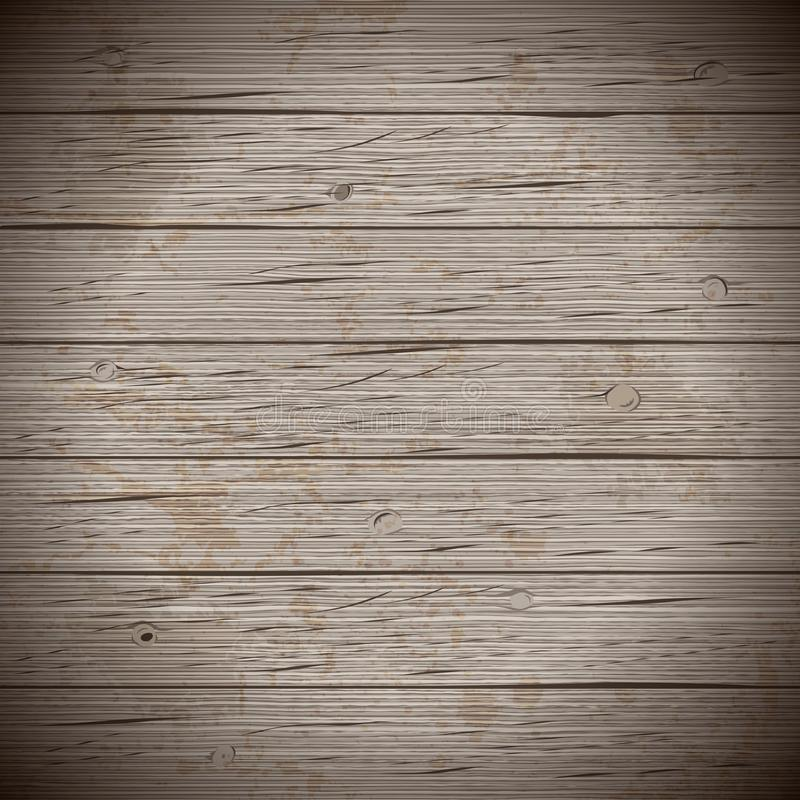 Rustieke houten planken uitstekende achtergrond stock illustratie