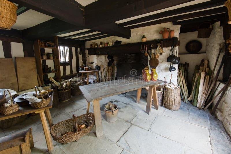 Rustieke keuken royalty-vrije stock afbeelding