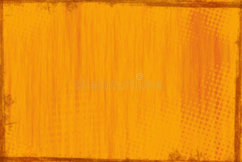 Rustieke oranje houten paneelachtergrond royalty-vrije illustratie
