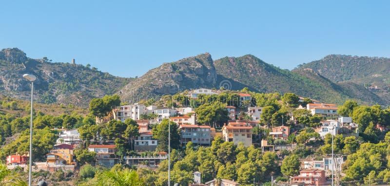Rustieke & ruwe maar mooie het leven plaatsen in landelijk Spanje Huizen in de heuvels & de bergen van landelijk Spanje stock foto's