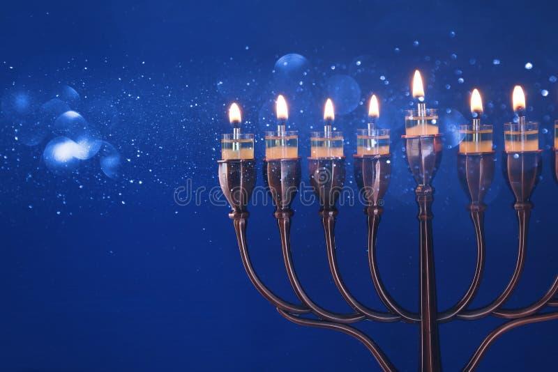 Rustig Beeld van Joodse vakantiechanoeka royalty-vrije stock foto's