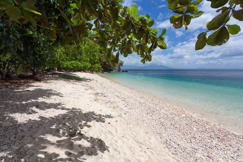 Rustig tropisch strand royalty-vrije stock fotografie