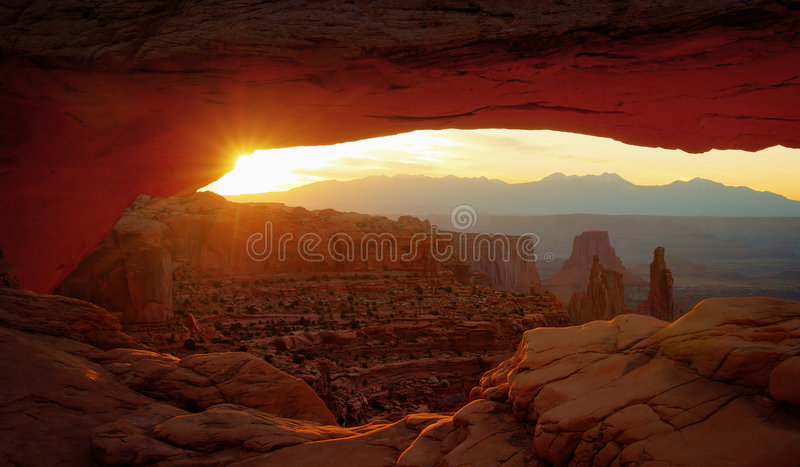 Rustige canyonland stock foto