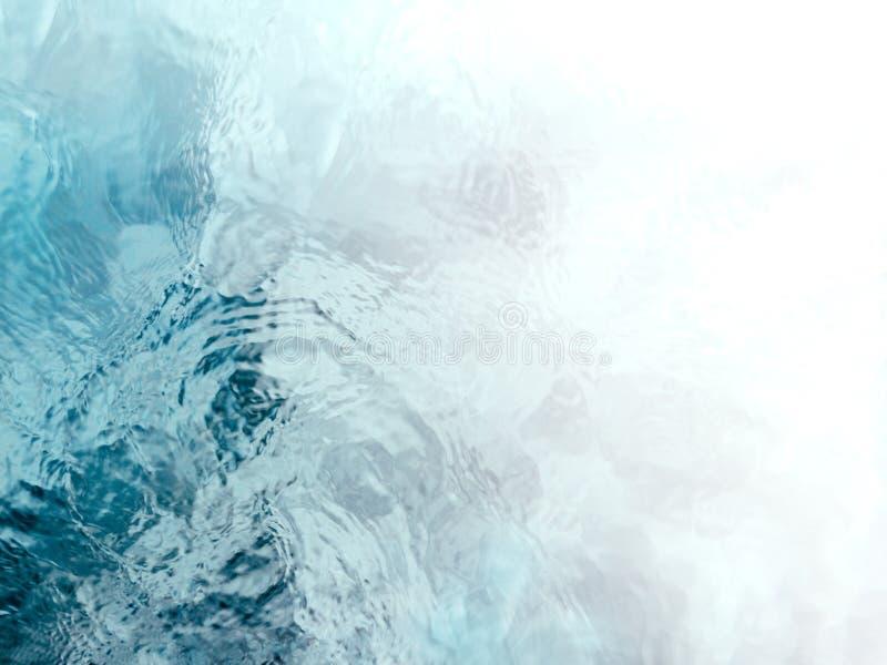 Rustige en meditatieve blauwgroene stromend waterrimpelingen royalty-vrije stock afbeeldingen