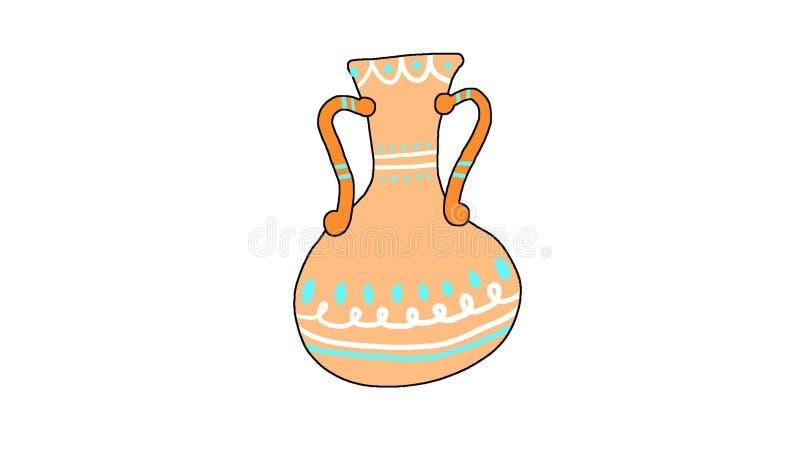 Rustige vase met contour vector illustratie