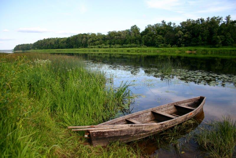 Rustige waterscape stock foto's