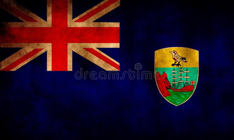 Rustikale Flagge Grunge Saint Helena lizenzfreie stockfotografie