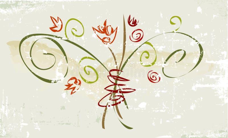 Rustikale Grunge Blume lizenzfreie abbildung