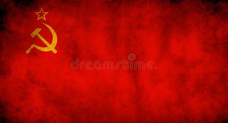 Rustikale, grunge Flagge der Sowjetunion lizenzfreie stockfotografie