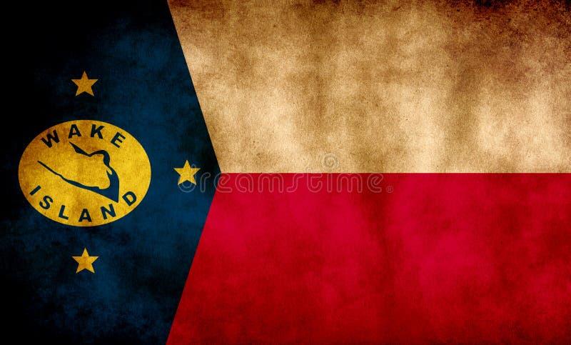 Rustikale, Grunge Wake Island Flag lizenzfreie stockbilder