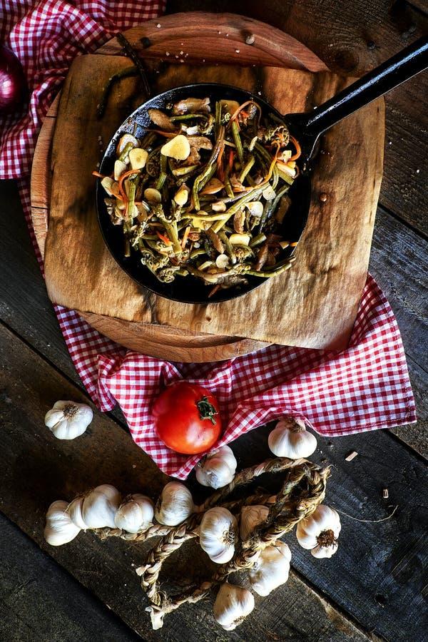 Rustikale Küchenzusammensetzung stockfotos