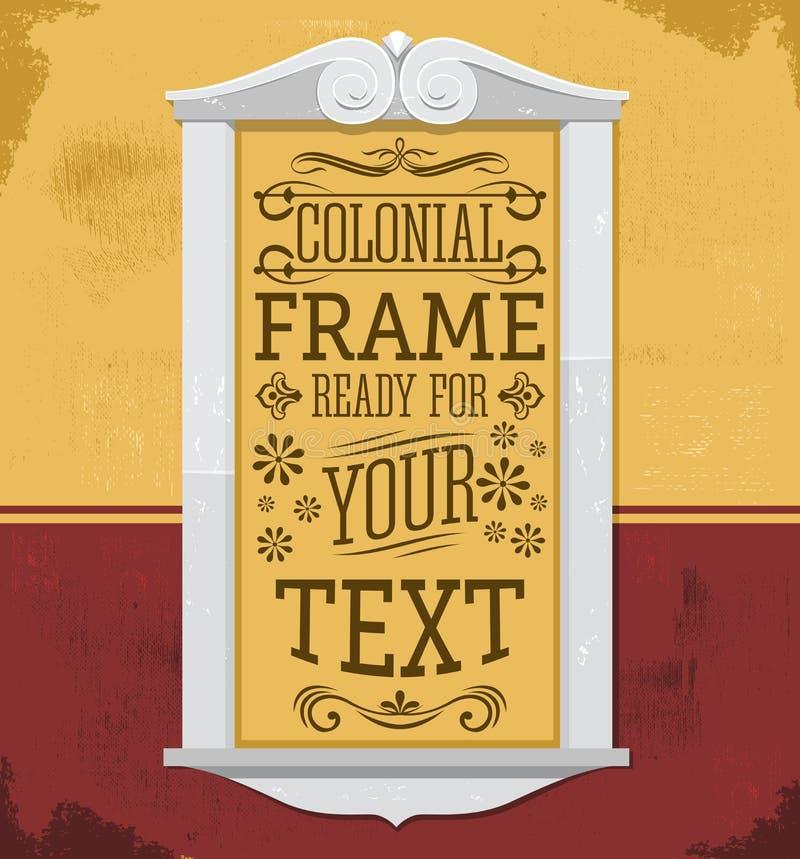 Rustikale Kolonialfeldvektorillustration, bereiten vor, um Ihren Text zu setzen oder zu entwerfen lizenzfreie abbildung