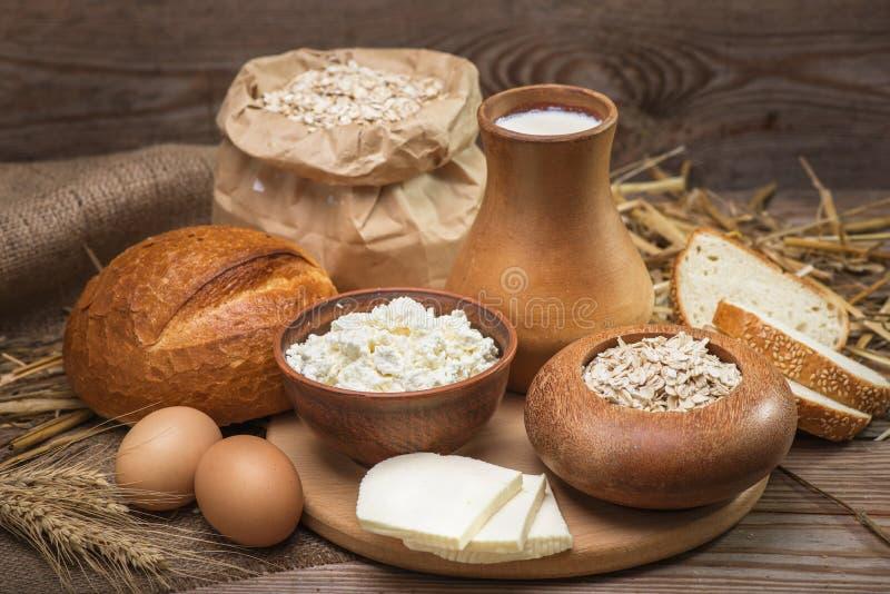 Rustikale natürliche organische Nahrungsmittel der Landwirte stockbild
