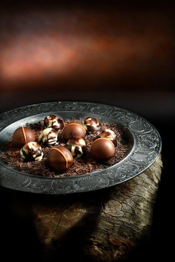 Rustikale Schokoladen stockbilder