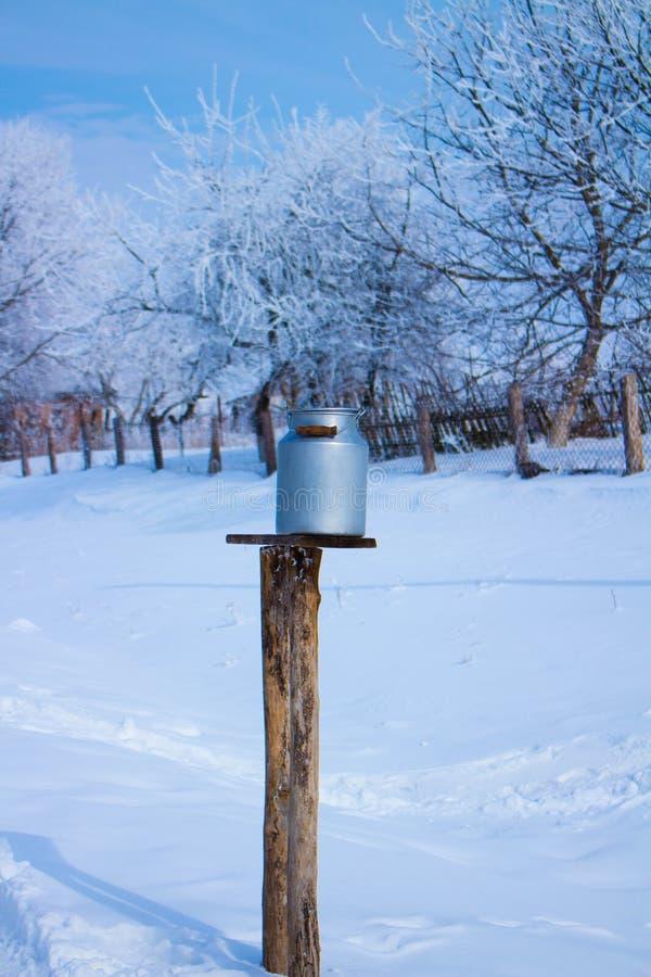 Rustikaler eisiger Winter, Blau und Blau lizenzfreies stockbild