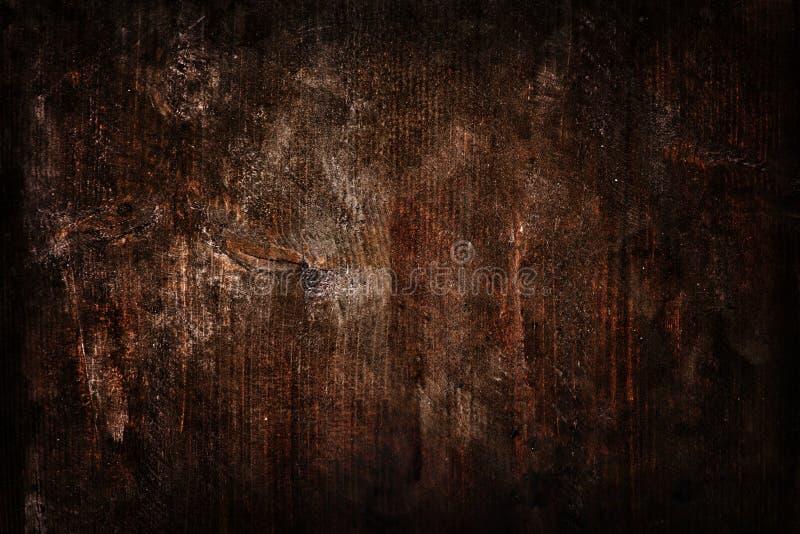 Rustikaler hölzerner dunkler Hintergrund Altes planked Holz Raum des freien Texts lizenzfreies stockfoto
