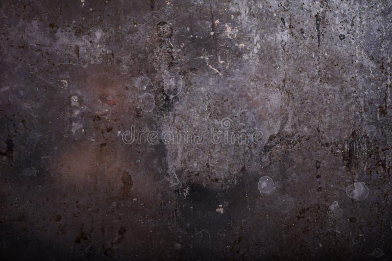 Rustikaler Hintergrund Dunkle rostige Metallbeschaffenheit Weinlese-Effekt stockfoto