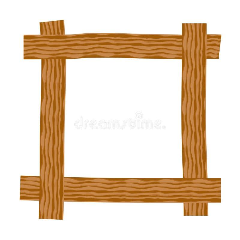 Rustikaler Holzrahmen vektor abbildung