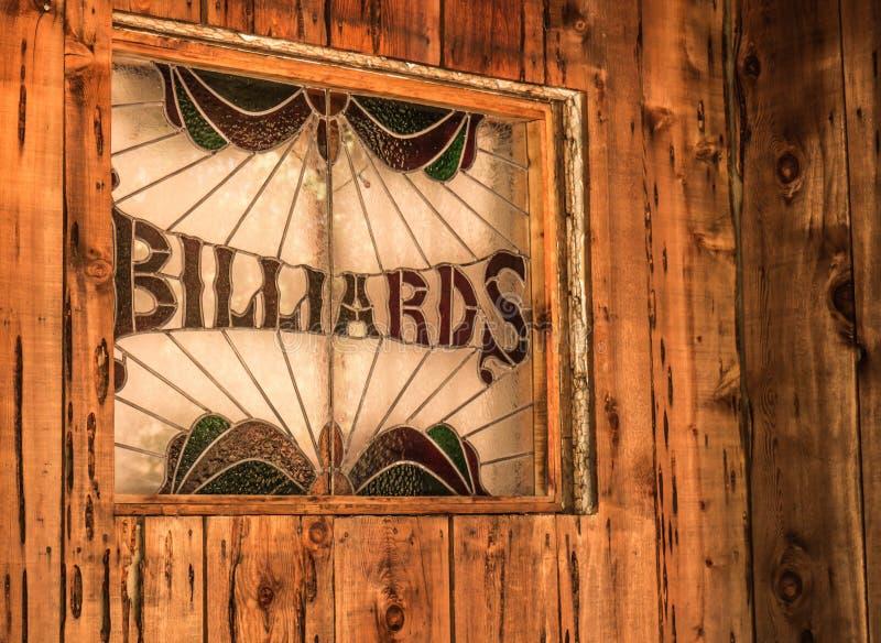 Rustikales Billard-Zeichen lizenzfreies stockfoto