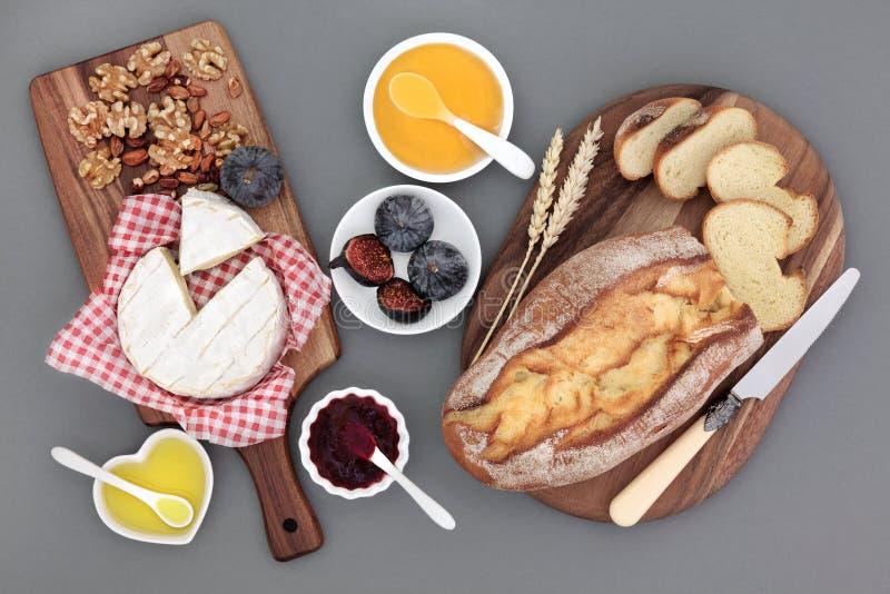Rustikales französisches Snack-Food lizenzfreies stockbild