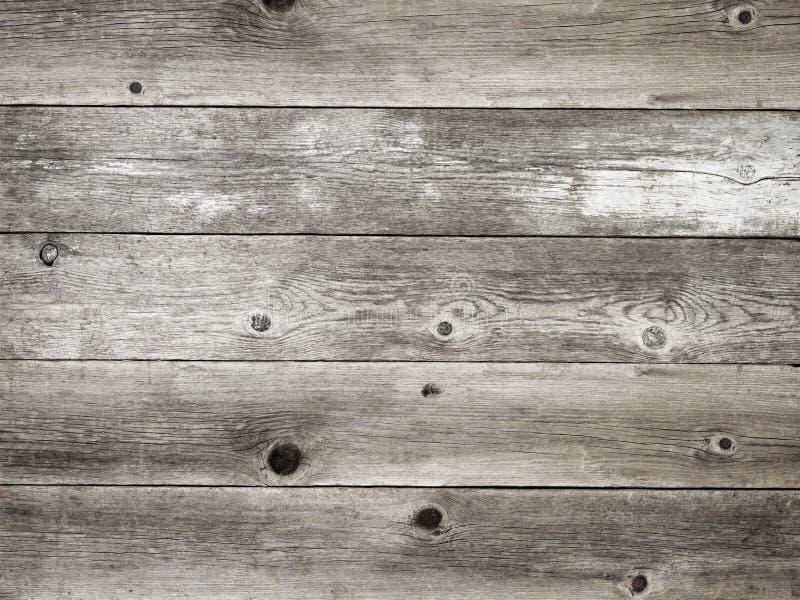 Rustikales silbernes Grau verwitterte hölzernen Bretthintergrund der Scheune lizenzfreie stockfotos