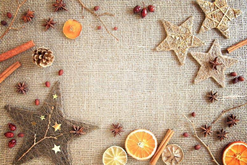 Rustikales Weihnachten/Wintergrenze lizenzfreies stockbild