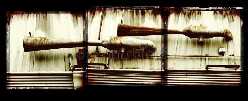 Rustindustriella avgaser arkivfoton