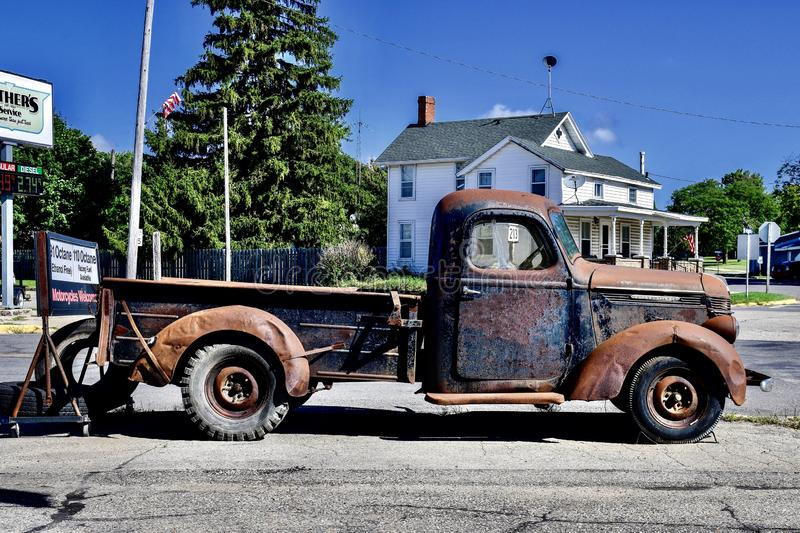 A Rusting Antique International Pick-up Truck royalty free stock photography