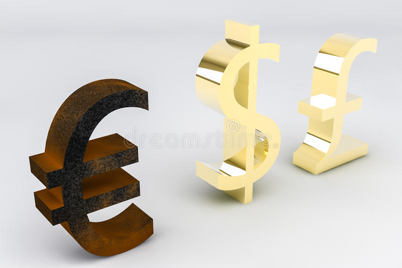 Rusting Euro royalty free stock images