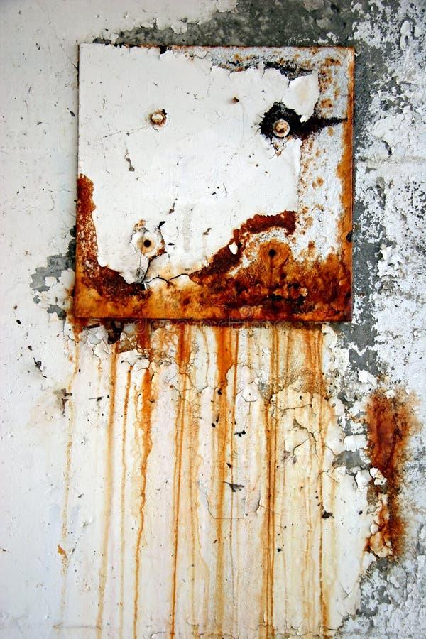 Rusting steel door royalty free stock image