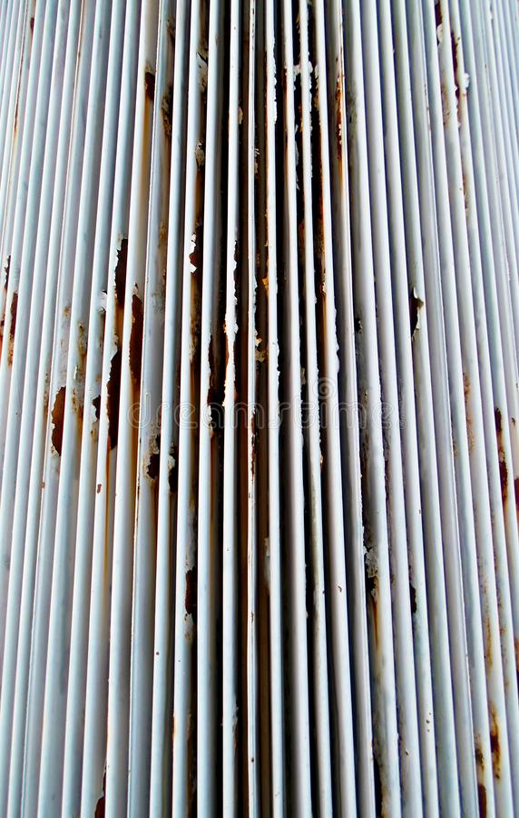 Rusting transformer indentations stock photos