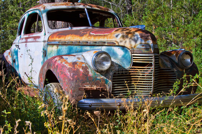 Rusting Vintage Car royalty free stock images