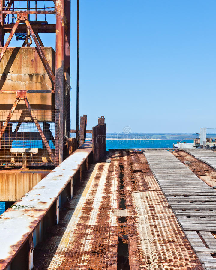 Download Rusting Wharf machinery stock image. Image of decay, oxidation - 23659437