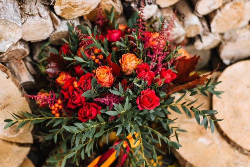 Rustique, pays, bouquets nuptiales photos stock
