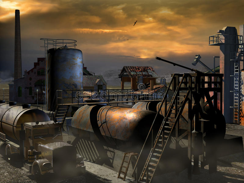 Download Rusty And Abandoned Industry Stock Illustration - Image: 21888732
