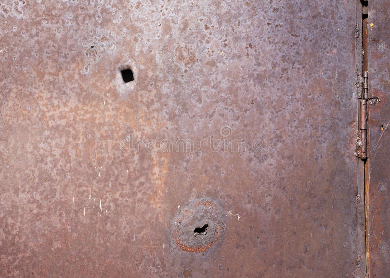 Rusty Abstract Background With Holes And Loops Stock Photo ...