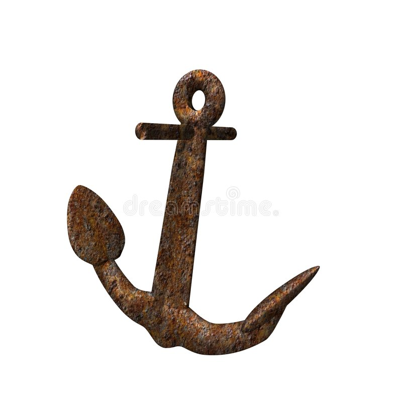 Rusty anchor stock photos