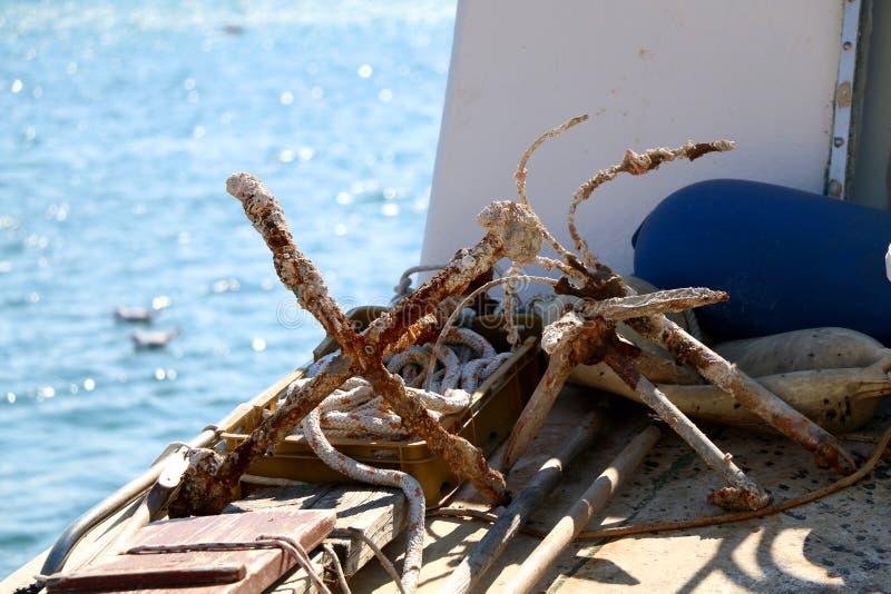 Rusty Anchors fotos de archivo libres de regalías