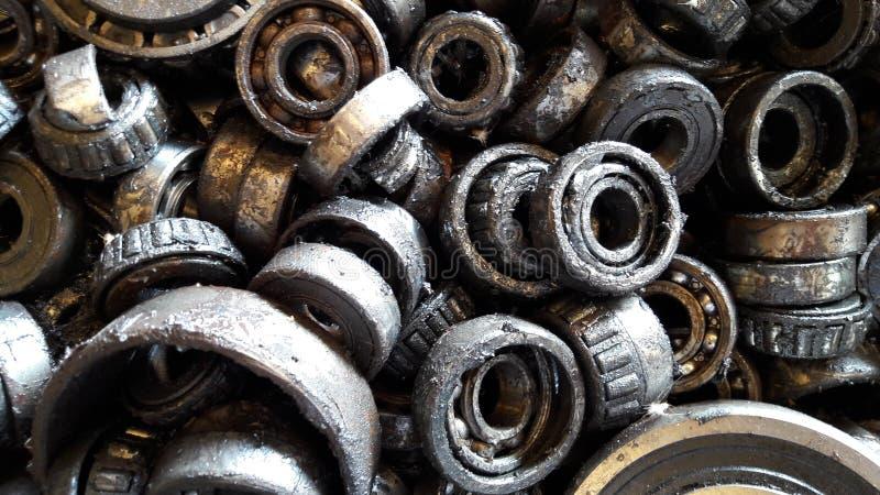 Rusty ball bearings. Ball bearings is broked stock photo