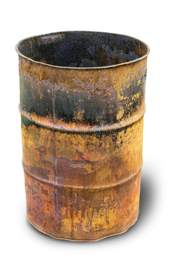 Rusty barrel stock photography