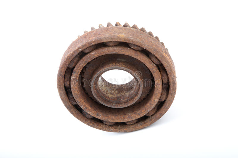 The rusty bearing and gear
